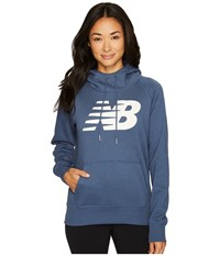 New Balance Essentials Pullover Hoodie Vintage Indigo Women's Fleece Black