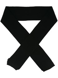 Moncler Ribbed Scarf Black