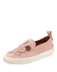 Coach Tea Rose Slip On Suede Sneaker Peony