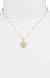 Judith Jack Reversible Pave Pendant Necklace Gold Disc
