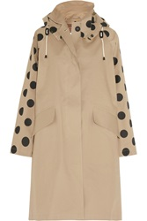 Mulberry Mackintosh Dotty Cotton Twill Coat Nude