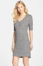 Women's Tart 'Daria' Melange T Shirt Dress Black Melange