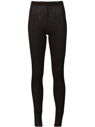 Marios 'Shimmery' Ribbed Leggings Black