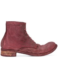 A Diciannoveventitre Culatta Ankle Boots Red