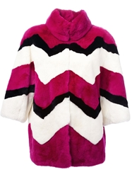 P.A.R.O.S.H. Oversized Coat Pink And Purple