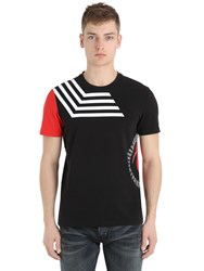 Bikkembergs Printed Cotton Stretch T Shirt