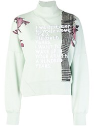Each X Other Embroidered Sweatshirt Green