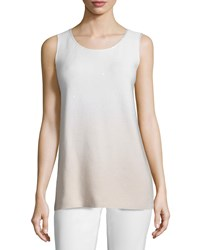 Lafayette 148 New York Round Neck Sequined Ombre Tank Soy Multi Women's Soy Multi
