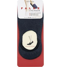 Falke Invisible Cotton Trainer Socks 6499 Navy Blue