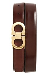 Men's Big And Tall Salvatore Ferragamo Reversible Belt Black Auburn Gold