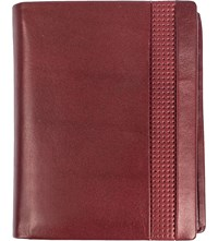 Dents Punched Detail Leather Wallet Claret