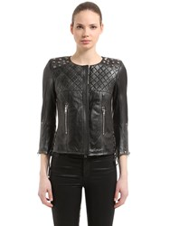 S.W.O.R.D. 6.6.44 Studded Vintage Leather Jacket Black