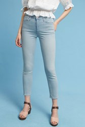 Anthropologie Mother Swooner Ultra High Rise Ankle Jeans Denim Light