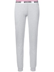 Moschino Logo Band Sweatpants Grey