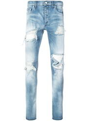 Fagassent Distressed Skinny Jeans Blue