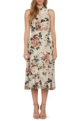 Willow And Clay Women's Wrap Midi Dress Champagne