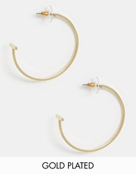 Pilgrim Gold Plated Large Cross Hoop Earrings