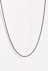 Mister Micro Rope Chain Necklace Black