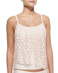 Luxe By Lisa Vogel Premiere Cutout Tankini Top Pink Blush