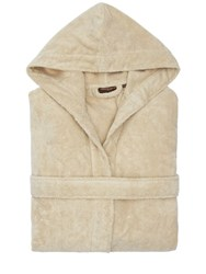 Roberto Cavalli Gold New Hooded Cotton Bathrobe Sand