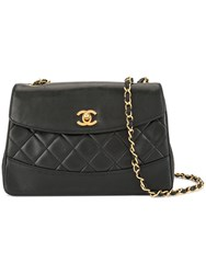 Chanel Vintage Trapezoid Cc Turn Lock Shoulder Bag Black