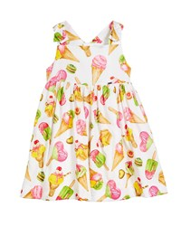 Mayoral Ice Cream Print Sleeveless Dress Size 12 36 Months Green