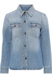 Frame Woman Faded Denim Shirt Light Denim