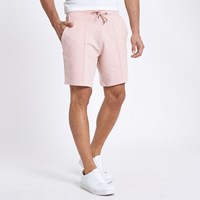 River Island Pink Pintuck Wasp Embroidered Slim Shorts