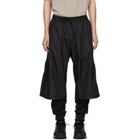 Y 3 Black Nylon Mix Lounge Pants