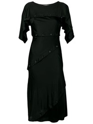 Roberto Cavalli Button Dress Black