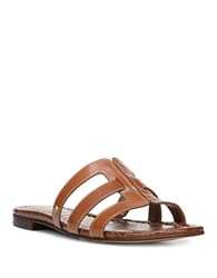 Sam Edelman Berit Open Toe Leather Sandals Saddle