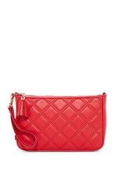 Cole Haan Benson Quilted Leather Demi Wristlet Red