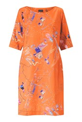 James Lakeland Baby Print Dress Orange