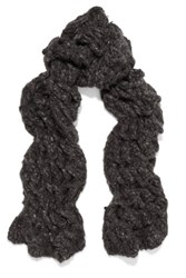 Rick Owens Oversized Open Knit Cashmere Scarf Dark Gray
