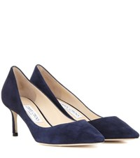 Jimmy Choo Romy 60 Suede Pumps Blue