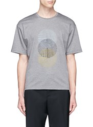 Wooyoungmi Spiral Embroidered T Shirt Grey