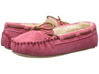 Minnetonka Cally Slipper Hot Pink Suede Women's Moccasin Shoes