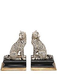 House Of Hackney Cheetah Porcelain Bookends Multicolor