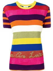 Etro Striped Knitted Top Pink