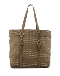 Ash Axel Studded Tabbed Tote Bag Army Green