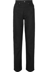Ksubi Playback Grease High Rise Straight Leg Jeans Black