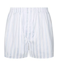 Harrods Multi Stripe Boxer Shorts White
