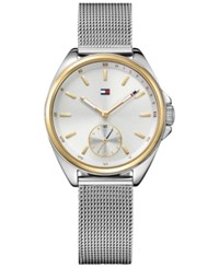 Tommy Hilfiger Women's Casual Sport Stainless Steel Mesh Bracelet Watch 36Mm 1781759 Silver