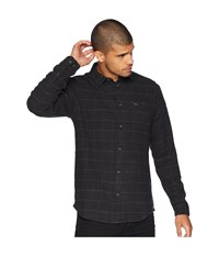 Rvca Arc Long Sleeve Woven Pirate Black Clothing