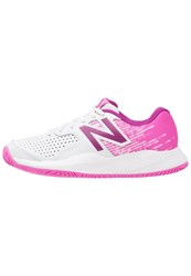 New Balance 696V3 Clay Outdoor Tennis Shoes White Pink