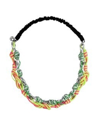 Maison Michel Necklaces Green