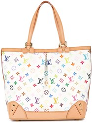 Louis Vuitton Vintage Sharleen Multicolour Monogram Tote Bag White