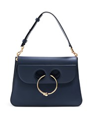 J.W.Anderson Pierce Medium Leather Shoulder Bag Navy