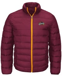 G3 Sports Men's Cleveland Cavaliers Skybox Packable Quilted Jacket Maroon Gold
