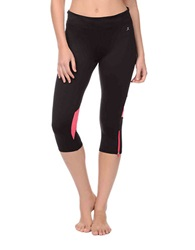Danskin Cropped Cardio Leggings Rich Black Pink